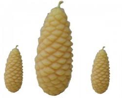 Bougie - pomme de pin de cire d'abeille