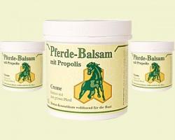 """Baume """"cheval"""" à la propolis, pour le soin du corps."""