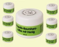 Propolis-Baumharz Salbe mit Honig