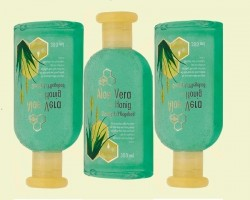 Gel for the shower with honey and aloe vera