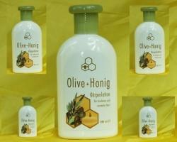 Płyn kosmetyczny do ciała z oliwą i miodem