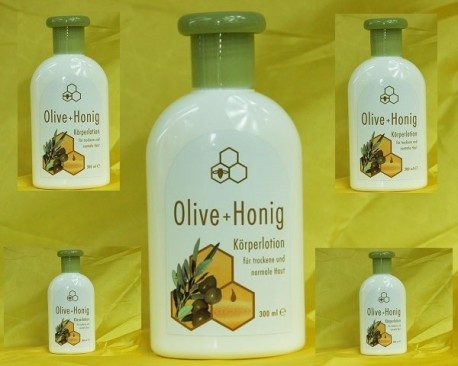 Lotion for your body with olive oil and honey