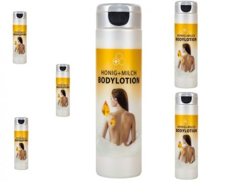 Nourishing body lotion with honey