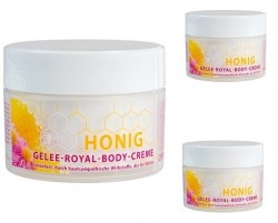 Ароматизированный крем для тела с мёдом и пчелинным маточным молочком.