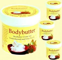 Krem do ciała z masłem shea z pestkami winogron i mleczkiem królewskim 250 ml.