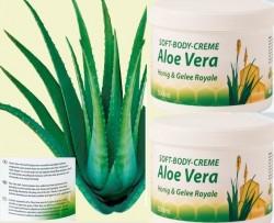 Soft Body Creme mit Aloe Vera, Honig und Gelee Royal