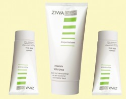 """ZIWADERM"" Intensive balm for your body with beeswax, echinacea and 10% urea."