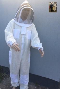 3Dوزرة واقية لمربي النحل مع شبكة معدلة.