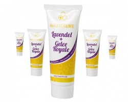 A neutral cream for your body with lavender and royal jelly