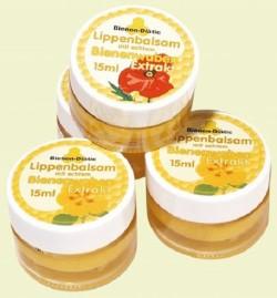 Lippenbalsam mit Bienenwaben-Extrakt im Glastöpfchen