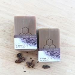 Pflanzenölseife mit Honig, Propolis und Heilerde