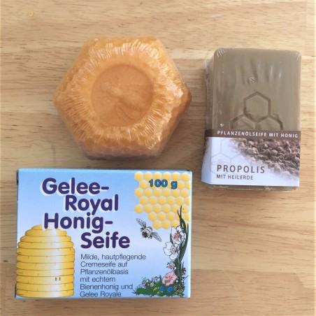 3 versch. Seifen mit natürlichen Pflanzenölen und Honig