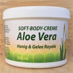 كريم الجسم الناعم مع العسل، هلام الملكي والصبار.500 مل