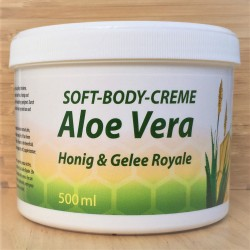 Мягкий крем для тела с мёдом, пчелинным маточным молочком и алое вера.