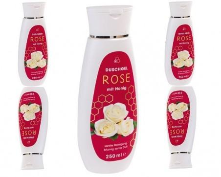 Shower gel Rose with honey (250ml)