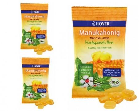 Manuka honey neck pastilles organic (30g.)