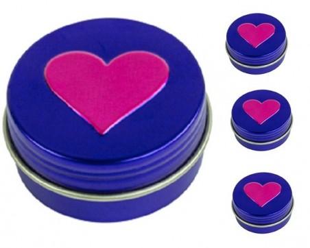 Baume à lèvres en pot de 14 ml (motif coeur)