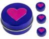 Lip balm in a 14 ml jar (motif heart)
